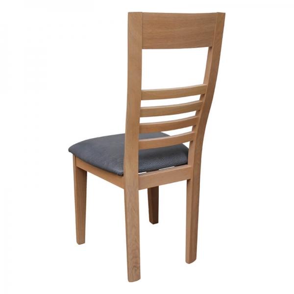 Chaise française en chêne massif et synthétique - Safran - 3