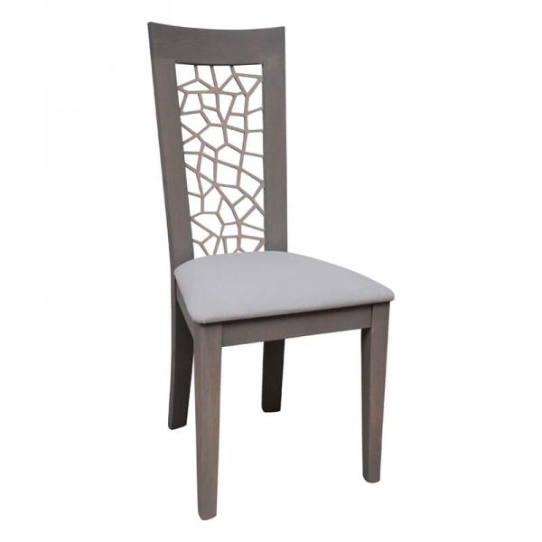 Chaise de salle à manger made in France rembourrée en synthétique - Crocus 1652 - 8