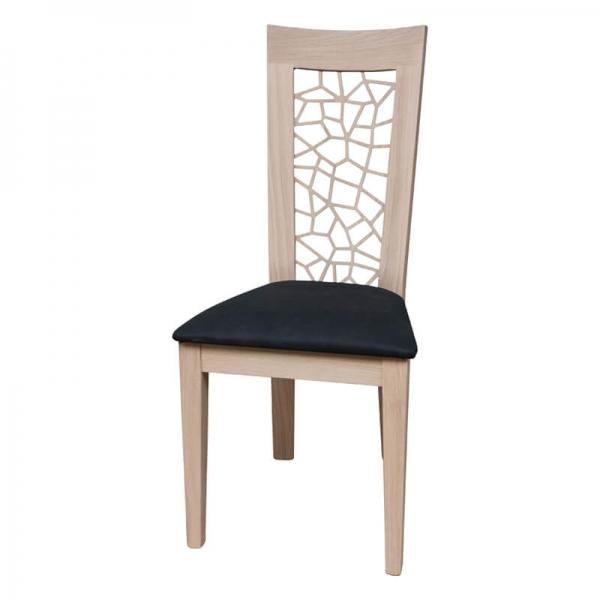 Chaise made in France rembourrée en synthétique - Crocus 1652 - 15