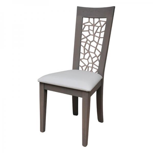 Chaise fabriquée en France rembourrée en synthétique - Crocus 1652 - 12