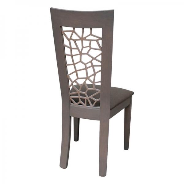Chaise de salle à manger made in France rembourrée en synthétique - Crocus 1652 - 6