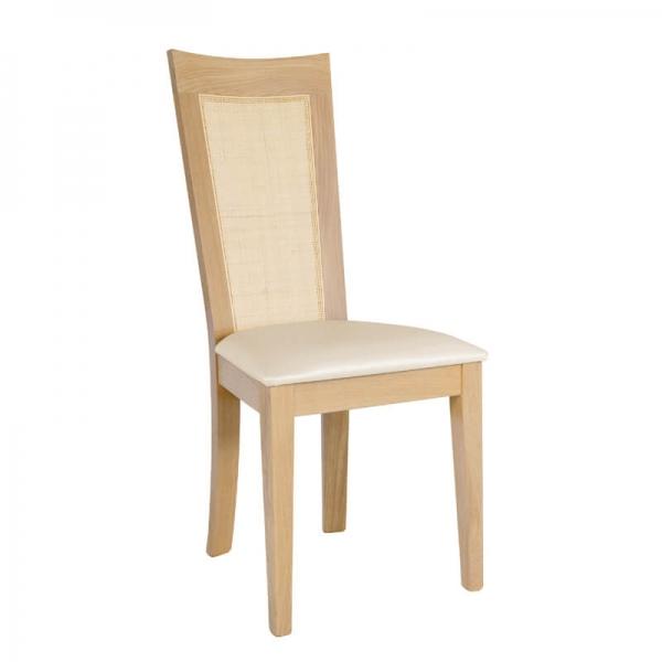 Chaise de salle à manger française dossier canné - Crocus 1655 - 1