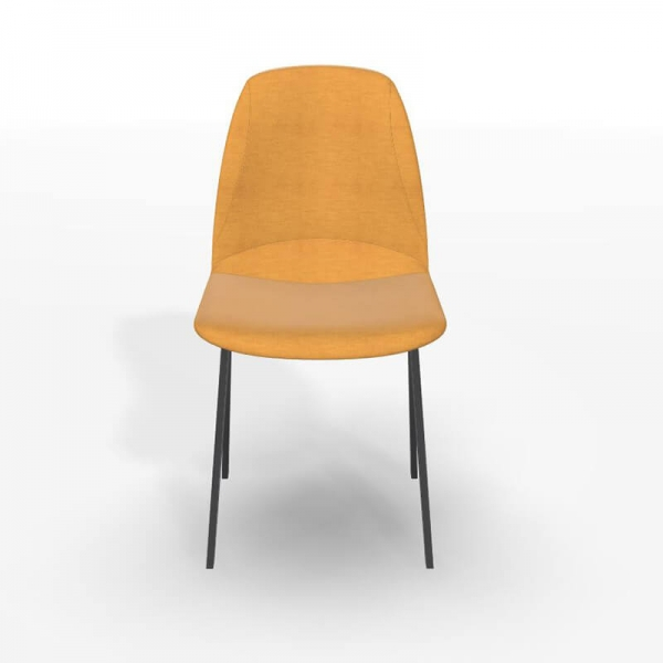 Chaise de séjour moderne en tissu jaune - Ona - 4