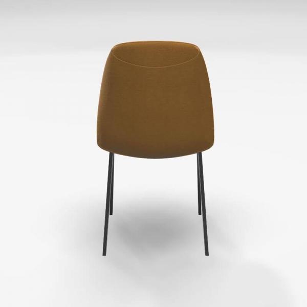 Chaise moderne en tissu jaune - Ona - 5