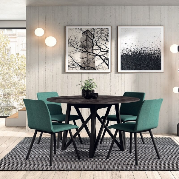 Table design ronde fabrication belge - Wacko - 1