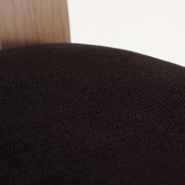 Chaise en chêne massif contemporaine made in France avec assise en tissu gris - Crocus - 5