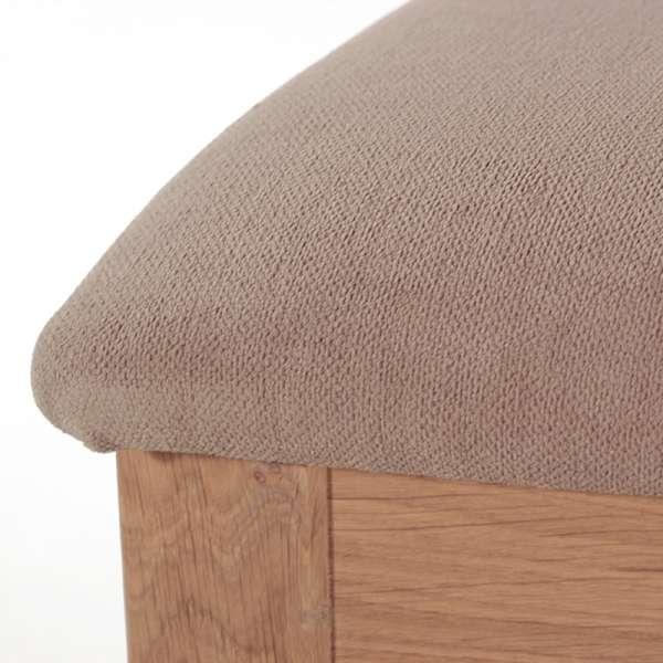 Chaise cannée assise en tissu et structure en bois massif - Crocus - 6