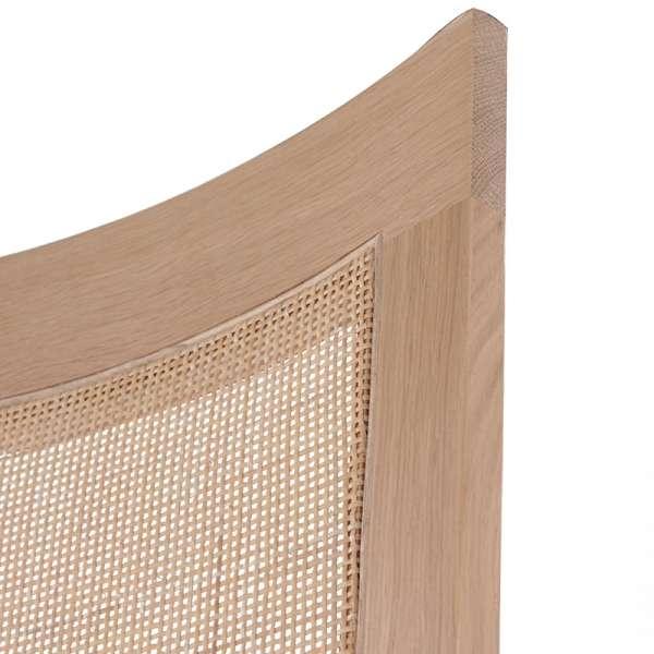 Chaise cannée assise en tissu et structure en bois massif - Crocus - 8