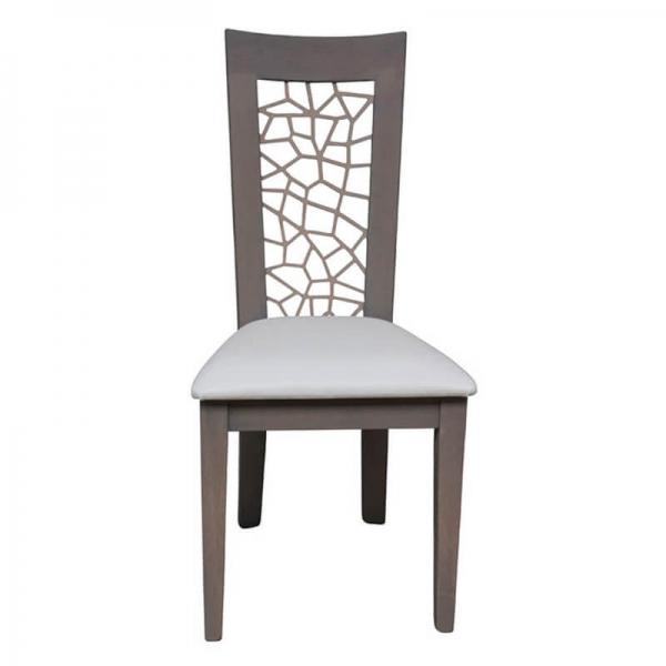 Chaise contemporaine made in France rembourrée en synthétique - Crocus 1652 - 10