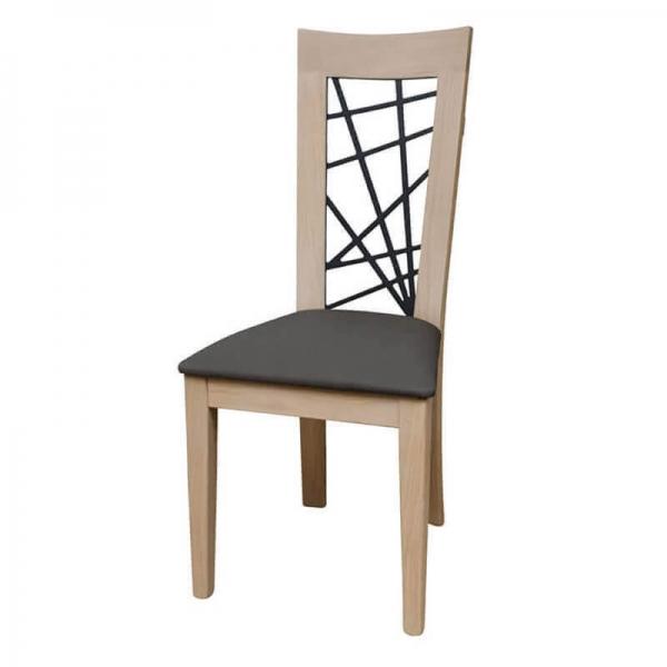 Chaise française dossier fantaisie assise grise - Crocus 1653 - 2