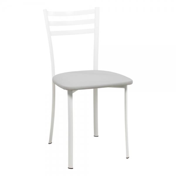 Chaise de cuisine grise en métal blanc - Ace 1320 - 42