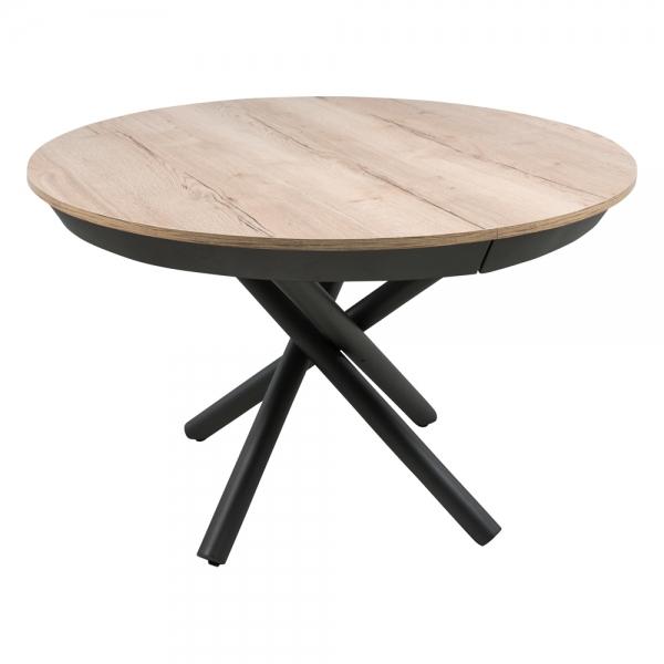 Table ronde extensible design en mélaminé et pied mikado - Fahrenheit - 1