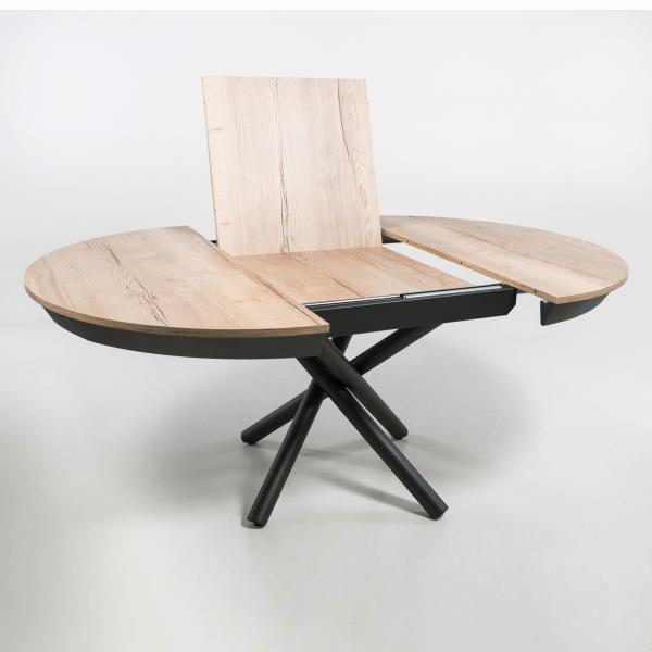Table ronde extensible design italienne en mélaminé et pied mikado - Fahrenheit - 3