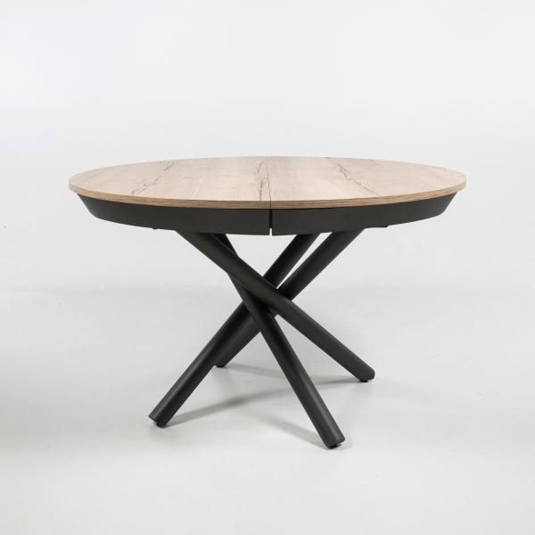 Table ronde extensible design pied central mikado - Fahrenheit - 5