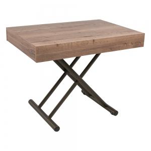 Table réglable en hauteur et extensible en mélaminé - Compact