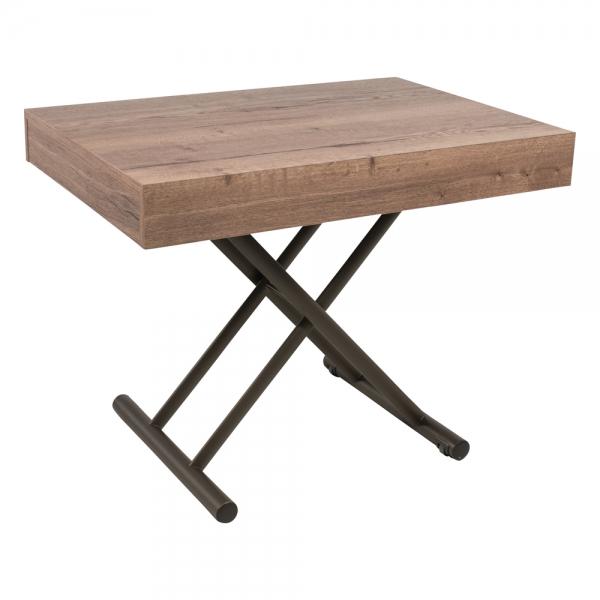 Table réglable en hauteur et extensible en mélaminé - Compact - 1