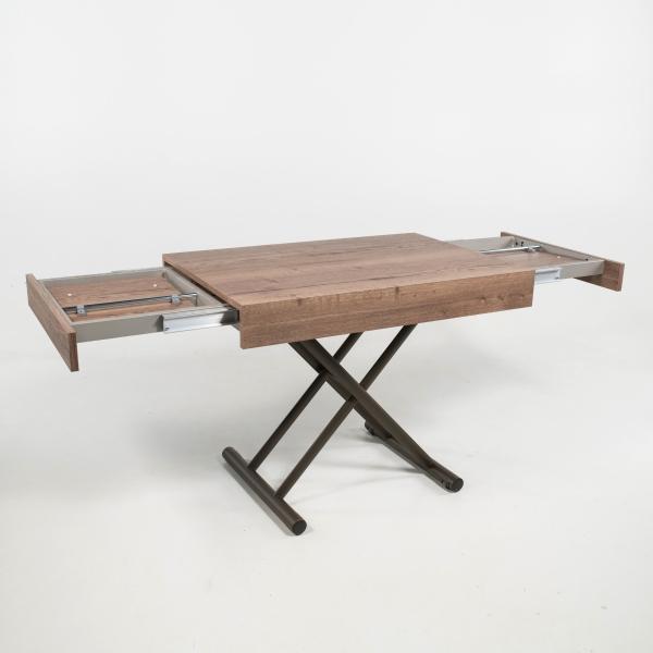 Table réglable en hauteur et extensible en mélaminé - Compact - 2