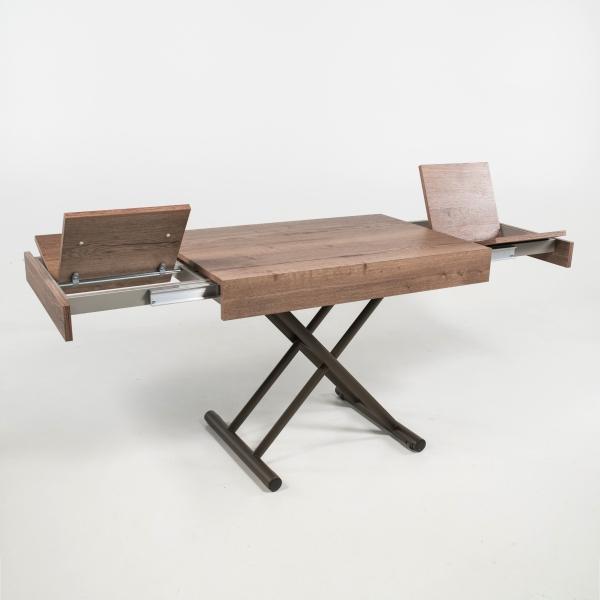 Table réglable en hauteur et extensible en mélaminé - Compact - 3