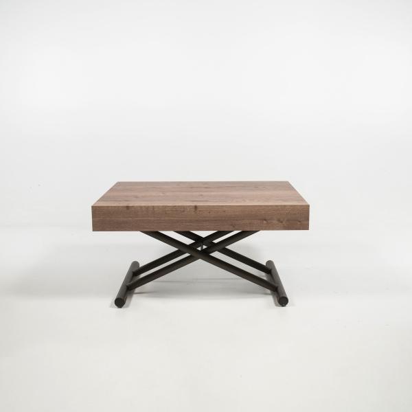 Table basse italienne réglable en hauteur et extensible en mélaminé - Compact - 7