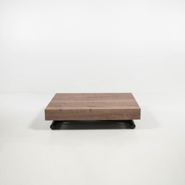 Table basse réglable en hauteur et extensible en mélaminé - Compact - 8