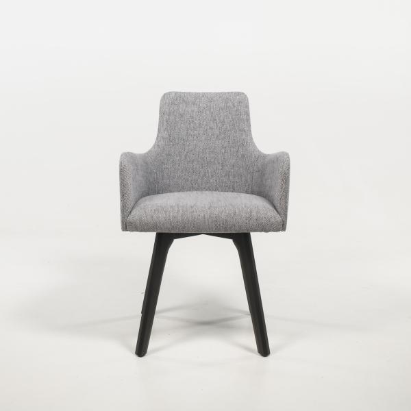 Fauteuil design confortable en tissu gris - Anders - 2