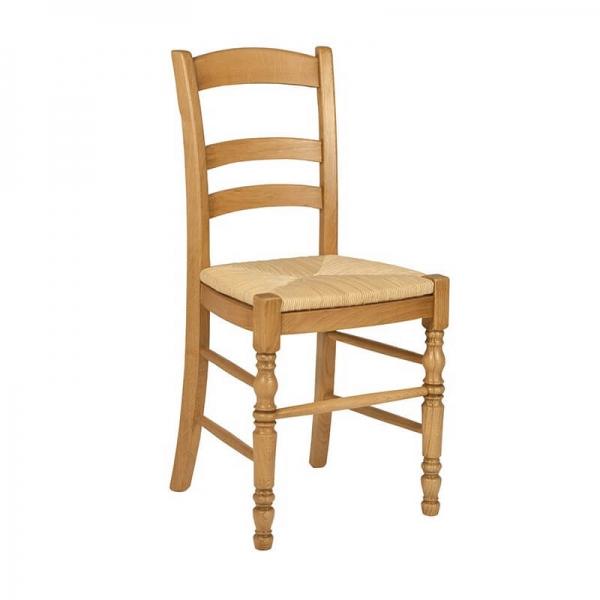 Chaise rustique en bois et paille de seigle - 380 - 6