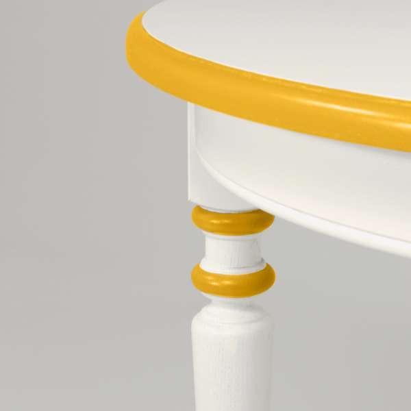 Table ronde en bois massif fabriquée en France - 4 Pieds - 15