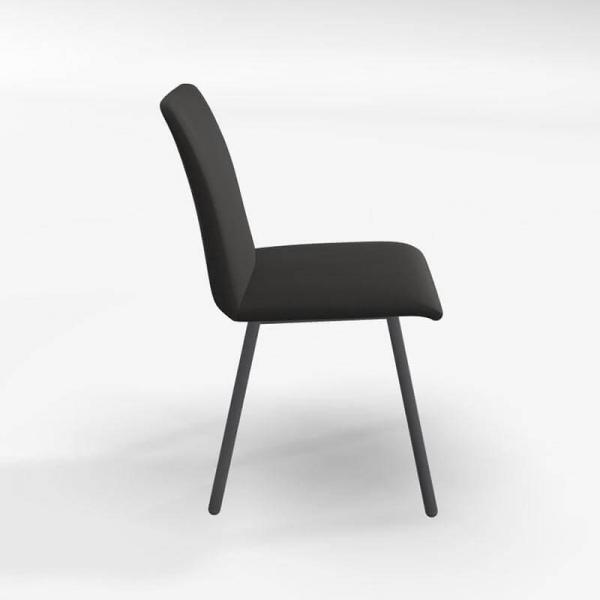 Chaise en tissu noir de salle à manger - Pisa - 2