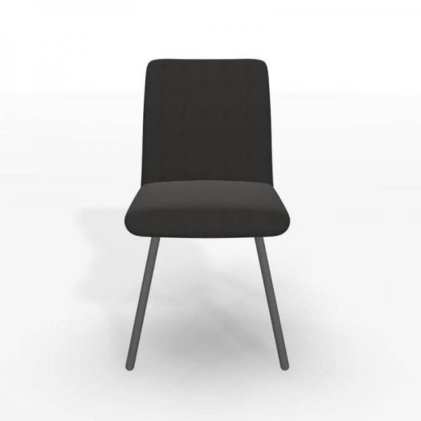 Chaise en tissu noir de salle à manger - Pisa - 3