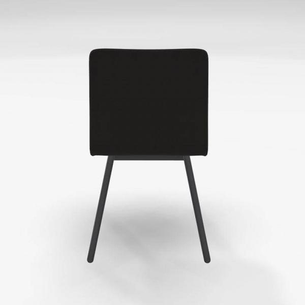 Chaise en tissu noir de salle à manger - Pisa - 4