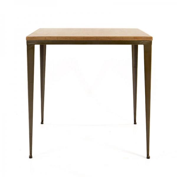 Table industrielle coloris acier brut vernis 48 - M412-90  - 2