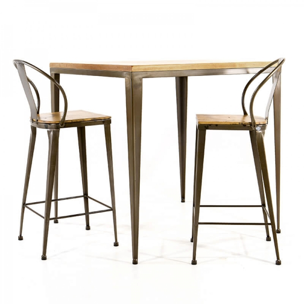 Table style industriel - M412-90 - 4