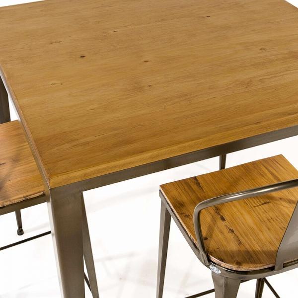 Table industrielle en bois et métal - M412-90 - 7