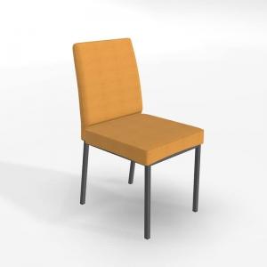 Chaise jaune rembourrée en métal et tissu style contemporain - Villa