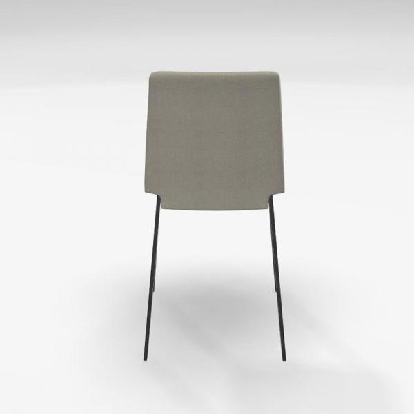 Chaise en tissu beige et pieds métal - Primera - 4