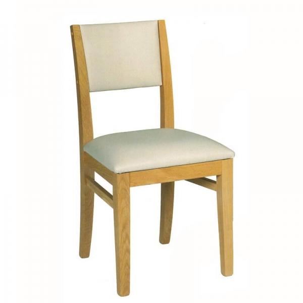 Chaise fabriquée en France en chêne massif et tissu - Soja 1330 - 1