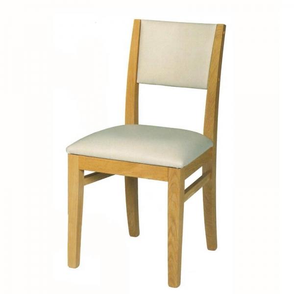 Chaise fabriquée en France en chêne massif et tissu - Soja 1330 - 2