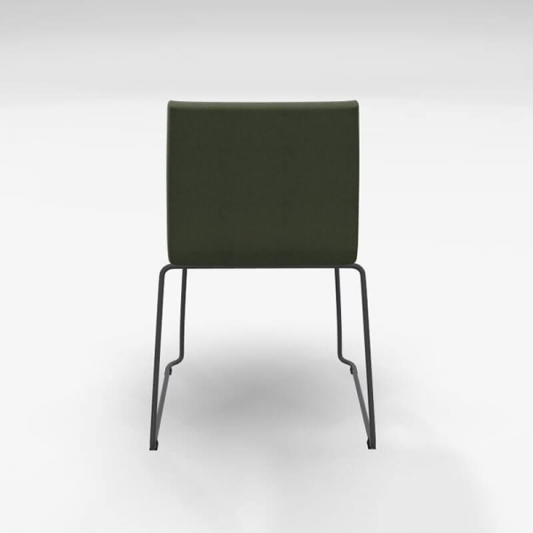 Chaise en tissu vert rembourrée - Como - 4