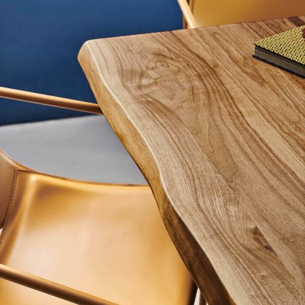 Table en bois design piétement mikado en métal - Pechino Midj® - 5