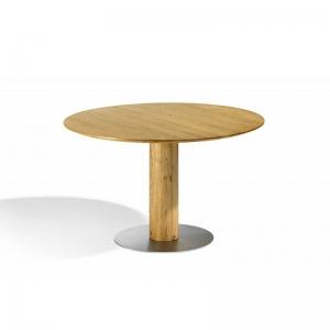 Table en bois massif ronde avec pied central - 12.12