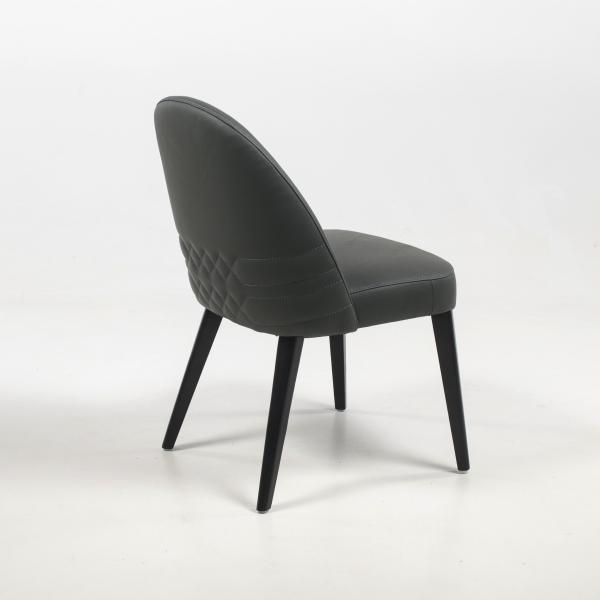 Chaise en cuir gris véritable - Népal - 10