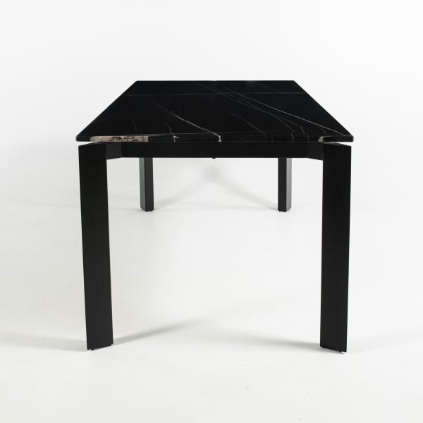 Table en marbre noir avec pieds en métal noir - Aneth - 4