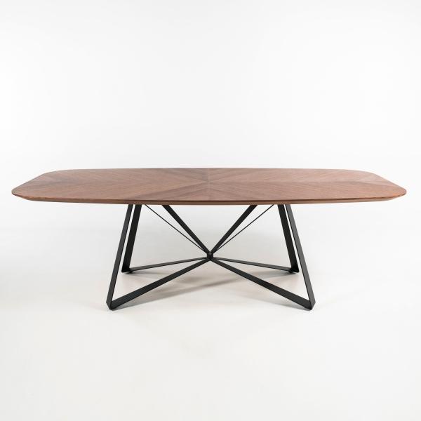 Table pied central design en métal plateau forme tonneau - Star - 2