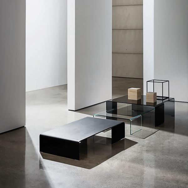 Table basse design rectangulaire en verre - Spider Sovet® 9 - 6
