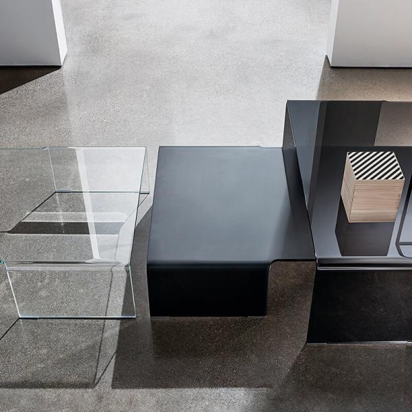 Table basse design rectangulaire en verre - Spider Sovet® 10 - 7