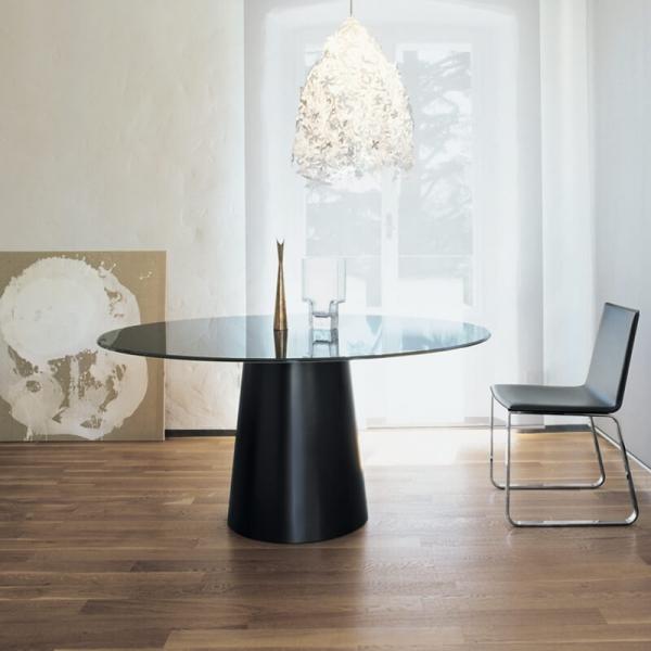 Table ronde design en verre - Totem Sovet® 5 - 5