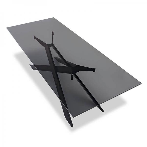 Table de salle à manger design en verre et métal - Cross Sovet® 9 - 9