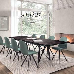 Table de séjour design extensible avec pieds en métal - Wacko 2.0