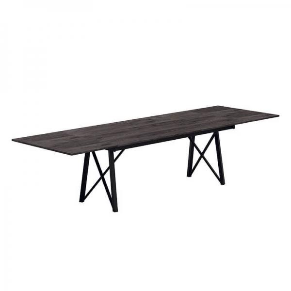 Table design avec rallonges pieds en méatl - Wacko 2.0 - 2