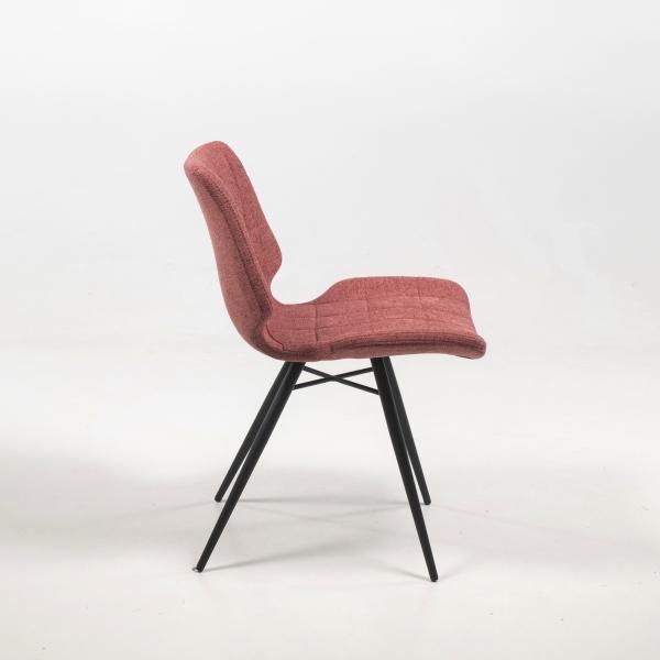 Chaise vintage rose en tissu matelassé - Iberis - 8